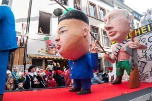 Carnical models of Putin and Kim Jong-Un