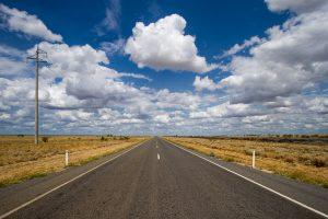 empty road under beautiful sky